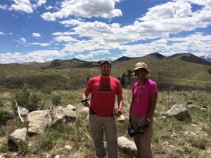 Wes Weisberg and Aisha Morris fieldwork photo