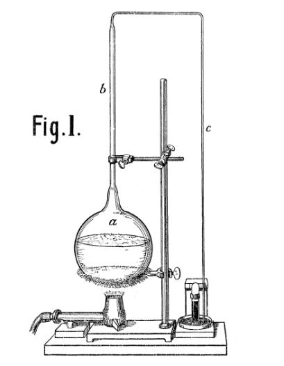 Experimental apparatus described by R.J. Strutt in 1910